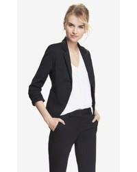Express 20 Inch Studio Stretch Ruched Sleeve Jacket