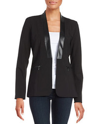 Calvin Klein Faux Leather Trimmed Blazer