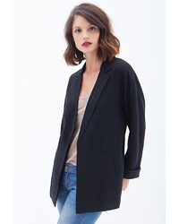 Forever 21 Contemporary Textured Boyfriend Blazer