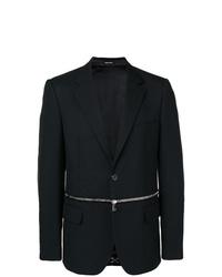 Alexander McQueen Front Zipped Blazer
