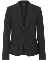 Theory Gabe Wool Blend Crepe Blazer Black