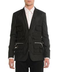 Givenchy Utility Pocket Nylon Blazer Black