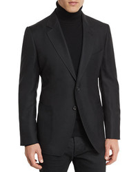 Tom Ford Hopsack Textured Cardigan Jacket Black