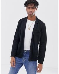 Tom Tailor Jersey Blazer In Black