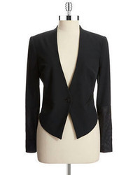 Jessica Simpson Faux Leather Cropped Blazer