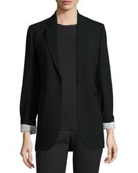 Joseph Laurent Stretch Wool Blazer Black