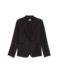 Vince Camuto Lace Up Back Double Weave Blazer