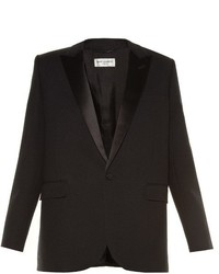 Saint Laurent Le Smoking Single Breasted Crepe Blazer