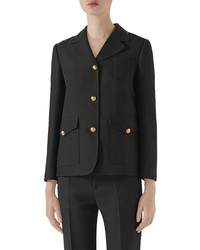 Gucci Marmont Silk Wool Cady Crepe Coat