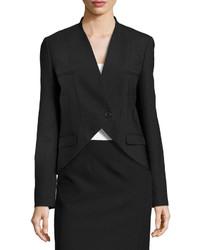 Michael Kors Michl Kors Wool One Button Cutaway Jacket Black