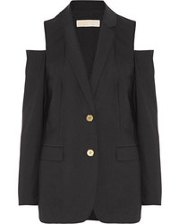 MICHAEL Michael Kors Michl Michl Kors Cold Shoulder Stretch Wool Blazer Black