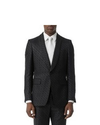 Burberry Monogram Jacquard Shawl Collar Blend Suit Jacket