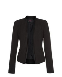 New Look Black Collarless Double Layer Blazer