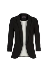 New Look Black Crepe Fitted Blazer