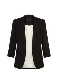 New Look Black Crepe Knotch Blazer