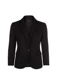 New Look Black Textured Ponte Blazer