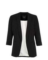 New Look Petite Black Crepe Blazer