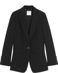 DKNY Open Back Crepe Blazer Black