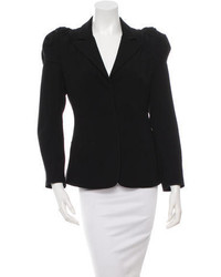 Prada Pleat Trimmed Notched Lapel Blazer