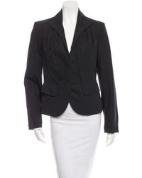Salvatore Ferragamo Pleated Pointed Collar Blazer
