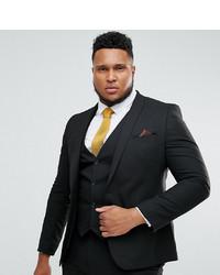 ASOS DESIGN Plus Skinny Suit Jacket In Black