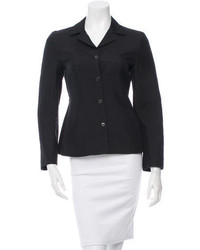 Prada Long Sleeve Notched Collar Blazer