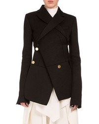Proenza Schouler Asymmetric Button Front 2 In 1 Blazer Black