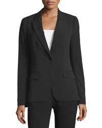 Neiman Marcus Rosie One Button Blazer Black