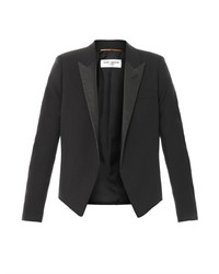 Saint Laurent Spencer Leather Lapel Jacket