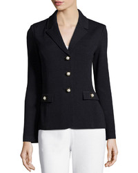 St. John Santana Embellished Three Button Blazer