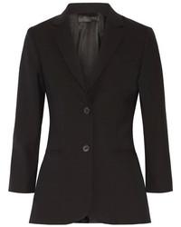 The Row Schoolboy Wool Blend Blazer Black