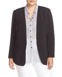 Sejour Plus Size Collarless Blazer