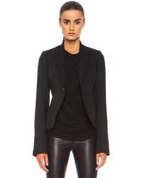 Rick Owens Short New Wool Blazer In Black