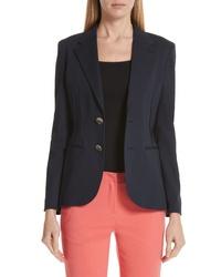 Emporio Armani Side Pleat Cotton Blend Jacket
