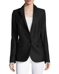 Stella McCartney Single Button Blazer Style Jacket Black