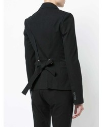 Derek Lam 10 Crosby Single Button Blazer With Grommet Back Detail