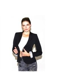 Soho Girl Classic Boyfriend Blazer In Black
