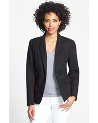 Vince Camuto Stretch Cotton One Button Blazer