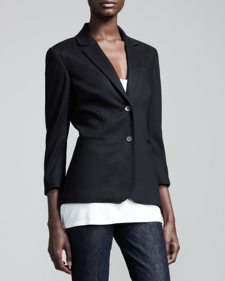 The Row Stretch Wool Summer Blazer Black | Where to buy & how to wear