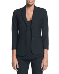 The Row New Schoolboy Two Button Blazer Black
