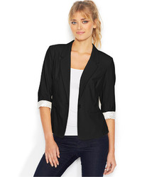 Kensie Three Quarter Sleeve Blazer