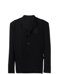 Yohji Yamamoto Vintage Triangle Cut Oiut Blazer Black