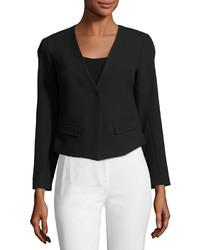 Trina Turk Lilla Crop Jacket Blazer Black