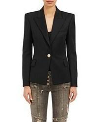 Balmain Twill Single Button Blazer