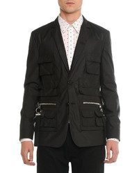 Givenchy Utility Pocket Nylon Blazer Black