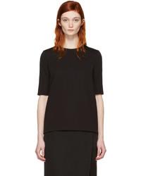 Lanvin Black Short Sleeve Blouse