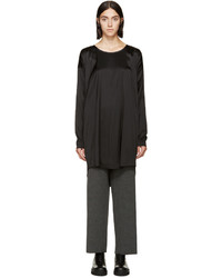 MM6 MAISON MARGIELA Black Stretch Blouse