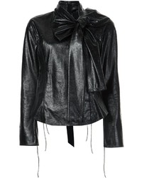 Marc Jacobs Faux Leather Blouse