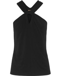 Michael Kors Michl Kors Collection Twist Front Stretch Jersey Top Black