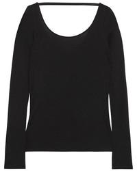 Helmut Lang Modal And Pima Cotton Blend Top Black